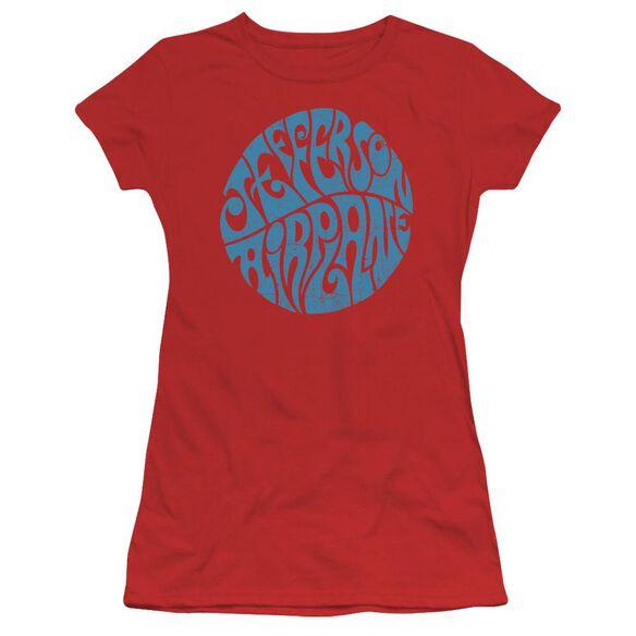 Jefferson Airplane Round Logo Short Sleeve Junior Sheer T-Shirt