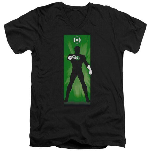 Dc Green Lantern Block Short Sleeve Adult V Neck T-Shirt