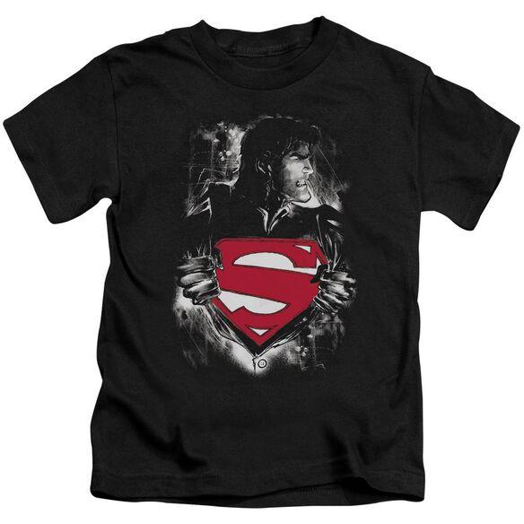 SUPERMAN DARKEST HOUR - S/S JUVENILE 18/1 - BLACK - T-Shirt