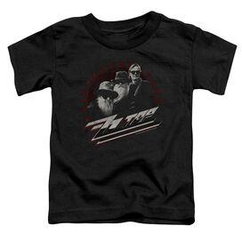 Zz Top The Boys Short Sleeve Toddler Tee Black T-Shirt