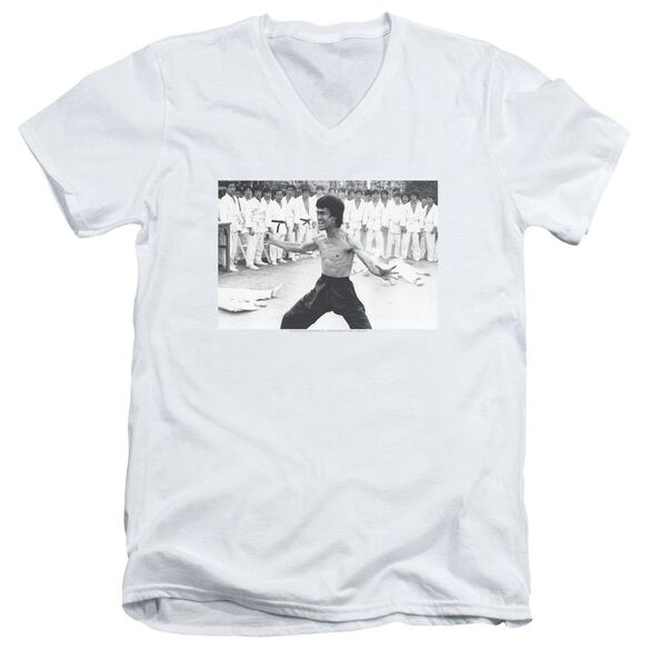Bruce Lee Triumphant Short Sleeve Adult V Neck T-Shirt