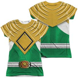 Power Rangers Green Ranger (Front Back Print) Short Sleeve Junior Poly Crew T-Shirt