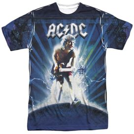 Acdc Lightning Short Sleeve Adult Poly Crew T-Shirt