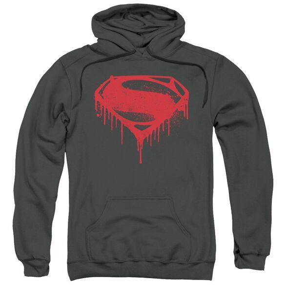 Batman V Superman Splattered Adult Pull Over Hoodie