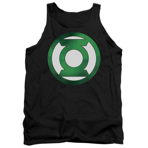 Green Lantern Green Chrome Logo Adult Tank