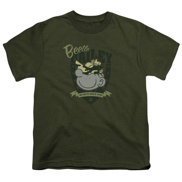 Beetle Bailey On Duty Short Sleeve Youth Military T-Shirt