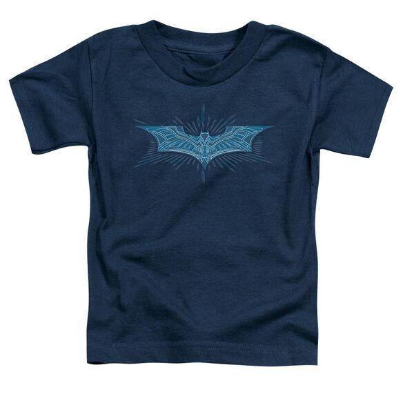 Dark Knight Bat Armor Logo Short Sleeve Toddler Tee Navy T-Shirt