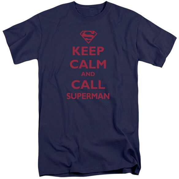 Superman Call Superman Short Sleeve Adult Tall T-Shirt