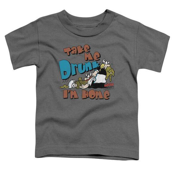 Hagar The Horrible Take Me Home Short Sleeve Toddler Tee Charcoal T-Shirt