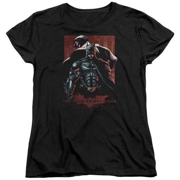 Dark Knight Rises Batman & Bane Short Sleeve Womens Tee T-Shirt