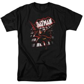 Beware The Batman From The Top Short Sleeve Adult Black T-Shirt