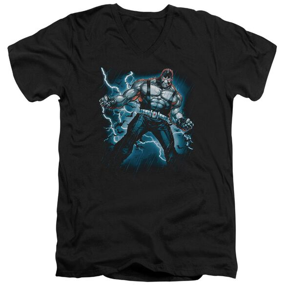 BATMAN STORMY BANE - S/S ADULT V-NECK - BLACK T-Shirt