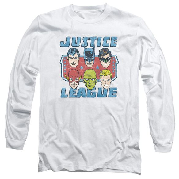 Dc Faces Of Justice Long Sleeve Adult T-Shirt