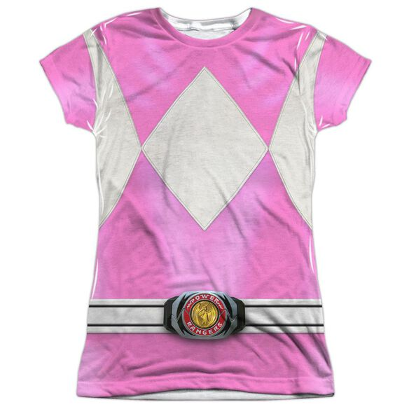Power Rangers Pink Ranger Short Sleeve Junior Poly Crew T-Shirt