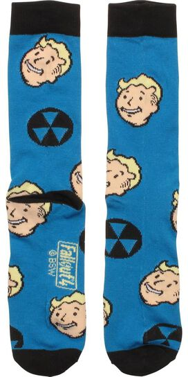 Fallout Vault Boy Head All Over Crew Socks