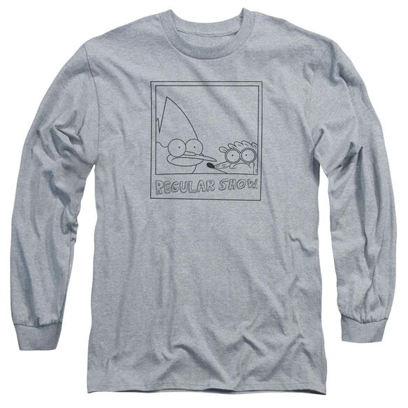 Regular Show Poloroid Long Sleeve Adult Athletic T-Shirt
