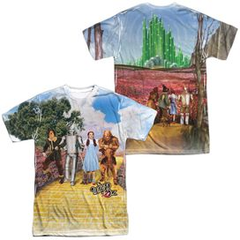Woz On The Road (Front Back Print) Short Sleeve Adult Poly Crew T-Shirt