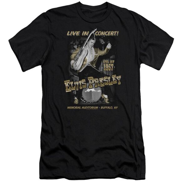 Elvis Live In Buffalo Premuim Canvas Adult Slim Fit