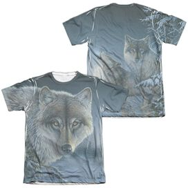 Wild Wings Midnight Wolves (Front Back Print) Adult Poly Cotton Short Sleeve Tee T-Shirt