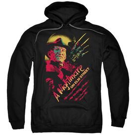Nightmare On Elm Street Freddy Claws Adult Pull Over Hoodie