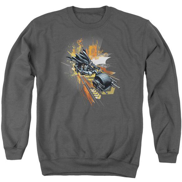 Dark Knight Rises Batpod Adult Crewneck Sweatshirt