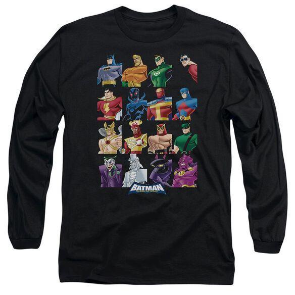 Batman Bb Cast Of Characters Long Sleeve Adult T-Shirt