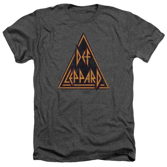 Def Leppard Distressed Logo Adult Heather