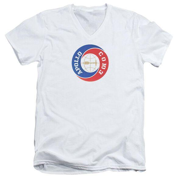 Nasa Apollo Soyuz Short Sleeve Adult V Neck T-Shirt
