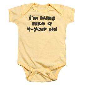Hung Infant Snapsuit Banana Lg