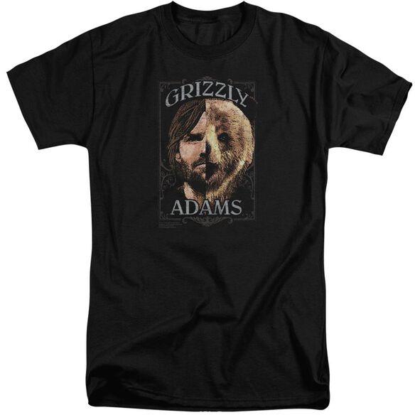 Grizzly Adams Half Bear Short Sleeve Adult Tall T-Shirt