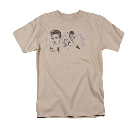 Elvis American Trilogy Short Sleeve Adult Sand T-Shirt