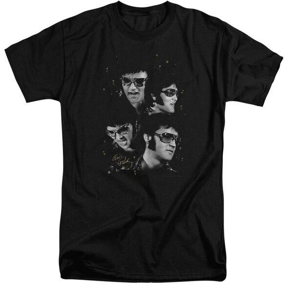 Elvis Faces Short Sleeve Adult Tall T-Shirt