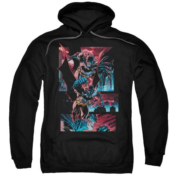 Batman Dark Knight Panels Adult Pull Over Hoodie Black