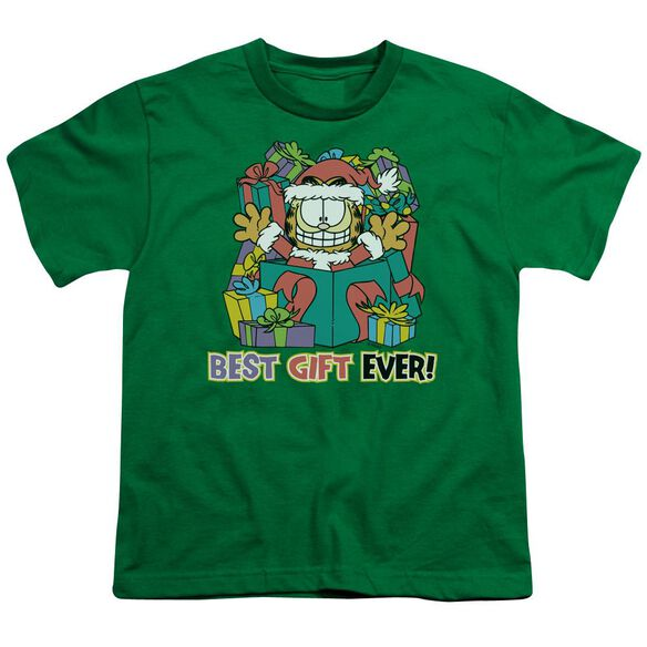 Garfield Best Gift Ever Short Sleeve Youth Kelly T-Shirt