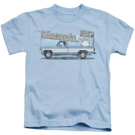 Chevrolet Old Silverado Sketch Short Sleeve Juvenile Light T-Shirt