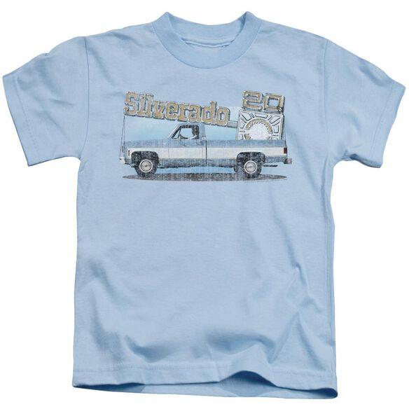 Chevrolet Old Silverado Sketch Short Sleeve Juvenile Light T-Shirt