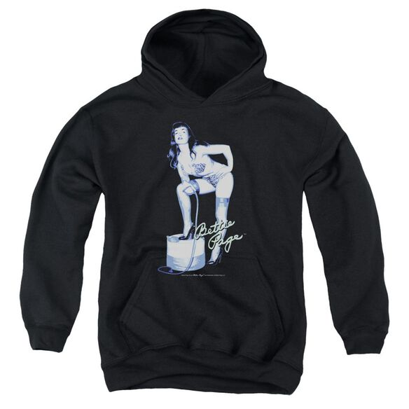 Bettie Page Mistress Youth Pull Over Hoodie