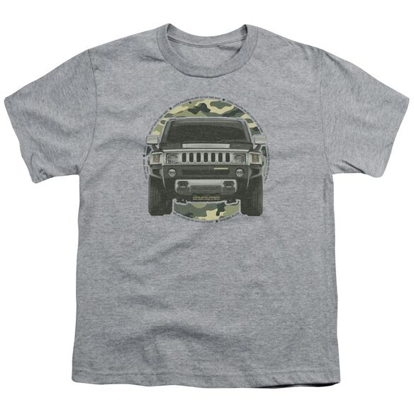 Hummer Lead Or Follow Short Sleeve Youth Athletic T-Shirt