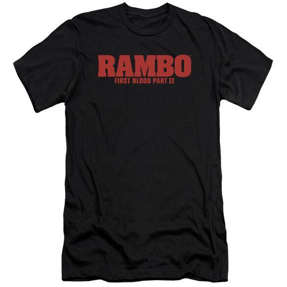 Rambo:First Blood Ii Logo Premuim Canvas Adult Slim Fit