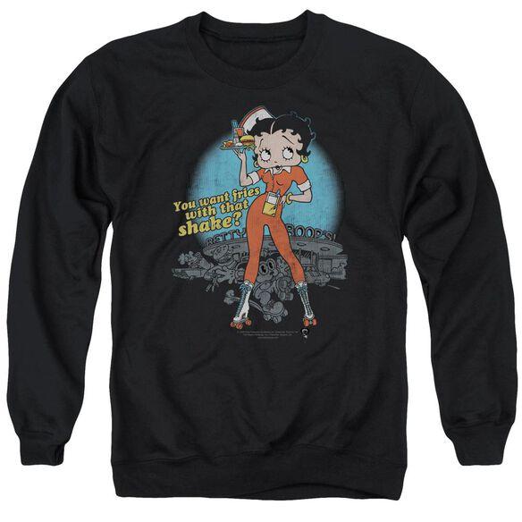 Betty Boop Fries With That Adult Crewneck Sweatshirt