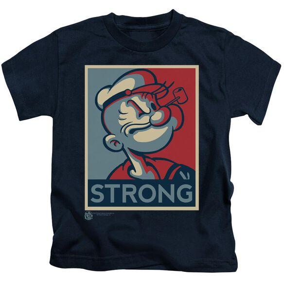 Popeye Strong Short Sleeve Juvenile Navy T-Shirt