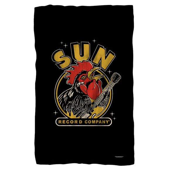 Sun Rocking Rooster Fleece Blanket