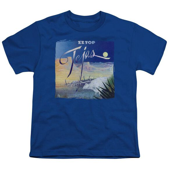 Zz Top Tejas Short Sleeve Youth Royal T-Shirt