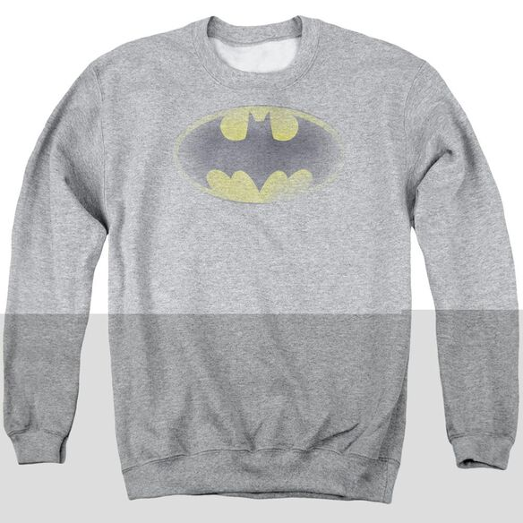 Batman Faded Logo Adult Crewneck Sweatshirt Athletic