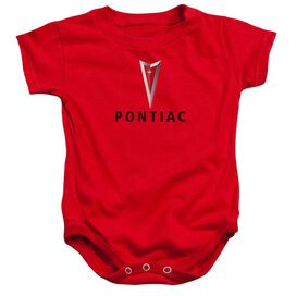 Pontiac Centered Arrowhead Infant Snapsuit Red