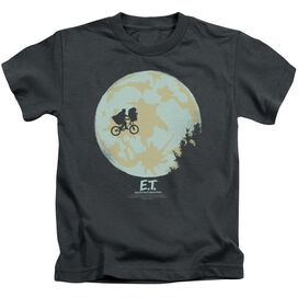 Et In The Moon Short Sleeve Juvenile Charcoal Charcoal T-Shirt