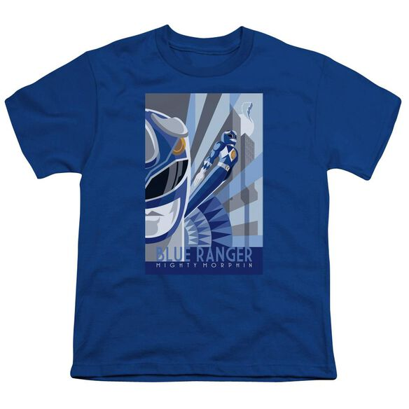 Power Rangers Ranger Deco Short Sleeve Youth Royal T-Shirt