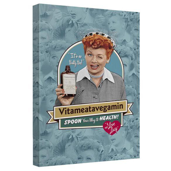 I Love Lucy Vitameatavegamin Quickpro Artwrap Back Board
