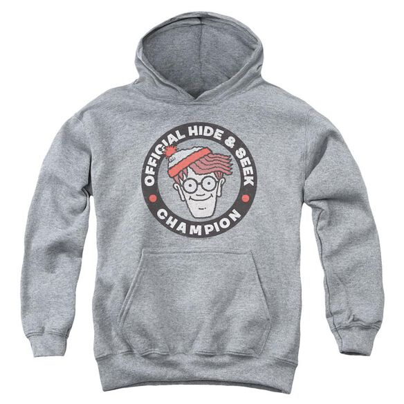 Wheres Waldo Champion Youth Pull Over Hoodie Athletic