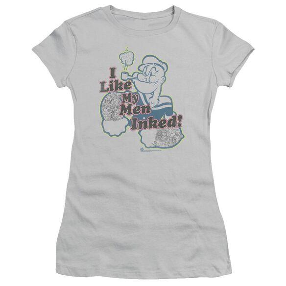 POPEYE INKED MEN - S/S JUNIOR SHEER - SILVER T-Shirt